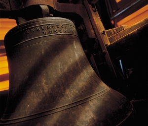 The Old Queens Bell donated by Colonel Henry Rutgers in 1826.