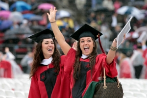 Students celebrate Rutgers 2013 Commencement.